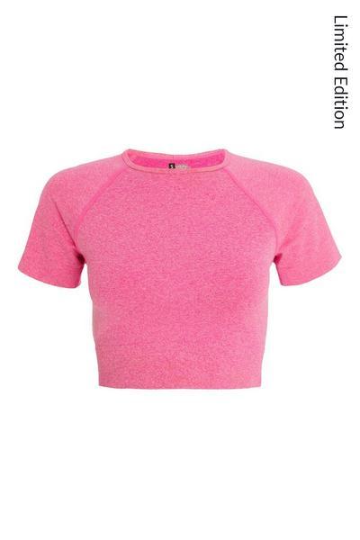 Pink Seamless Crop Top